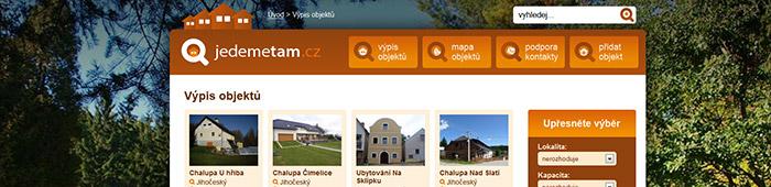 jedemetam.cz - přehledný katalog ubytování bez navýšení cen