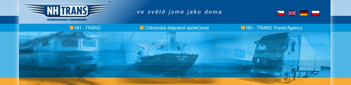 NH - TRANS, SE - železniční, námořní, říční a silniční přeprava, nadrozměrné přepravy